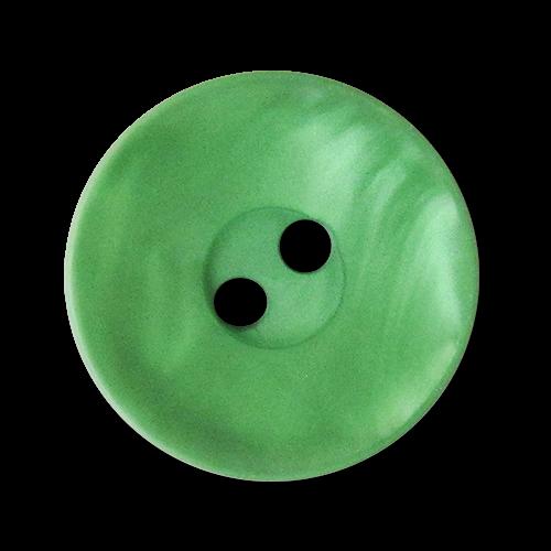 www.knopfparadies.de - 3564gr - Hübsche, grün schillernde Kunststoffknöpfe