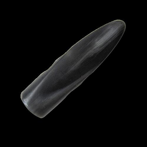 www.Knopfparadies.de - 1661sc - Große schwarze Knebelknöpfe aus Kunststoff