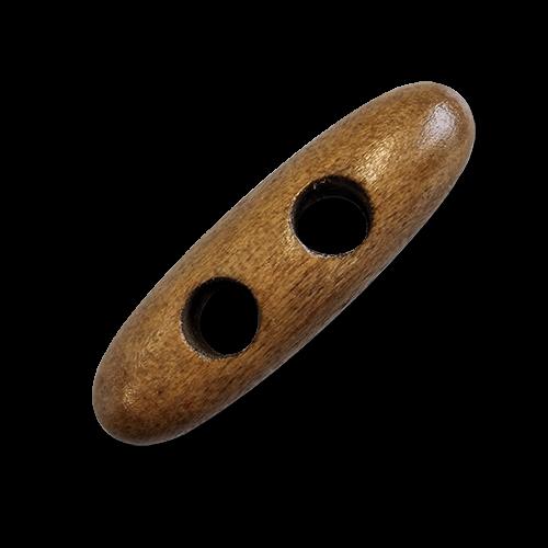 www.knopfparadies.de - 6189ho - Abgerundete Knebelknöpfe aus Holz