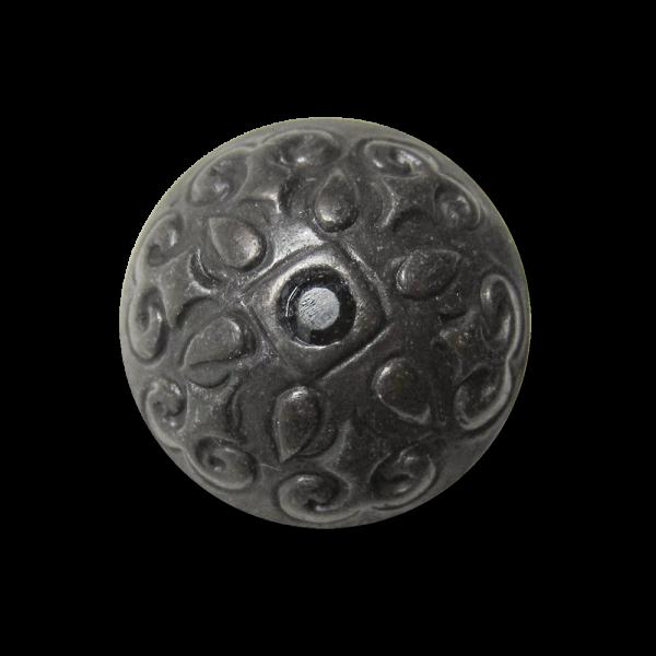 Stark gewölbte Ornament Ösen Knöpfe mit Glitzer Stein