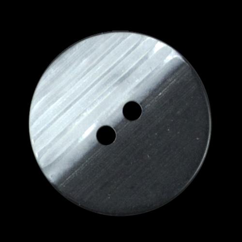 Moderner schwarzer Kunststoffknopf mit Perlmutt Effekt
