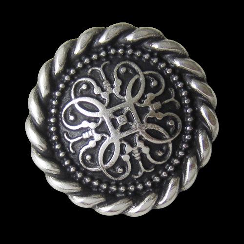 Bezaubernd schöne Metallknöpfe mit gekordeltem Rand und filigranem Muster