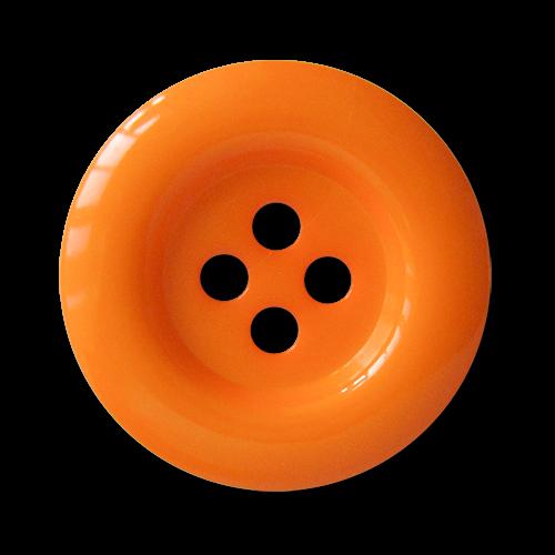 www.knopfparadies.de - 1685or - Günstige orangene Kunststoffknöpfe mit vier Löchern