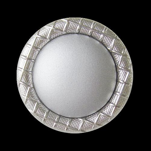 www.Knopfparadies.de - 0012si - Elegante silberne Kunststoffknöpfe in Metalloptik
