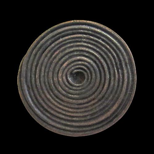 www.Knopfparadies.de - 3201ak - Originelle Ösenknöpfe aus Metall in Kupfer