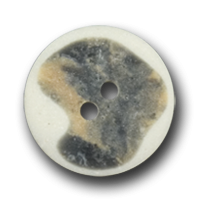 Knopf mit naturweiß-graubraunen Akzenten