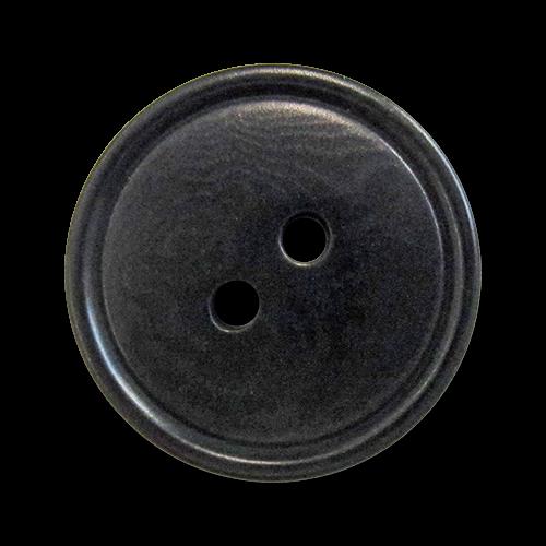 www.knopfparadies.de - 5454sc - Schwarze Steinnussknöpfe mit zwei Löchern