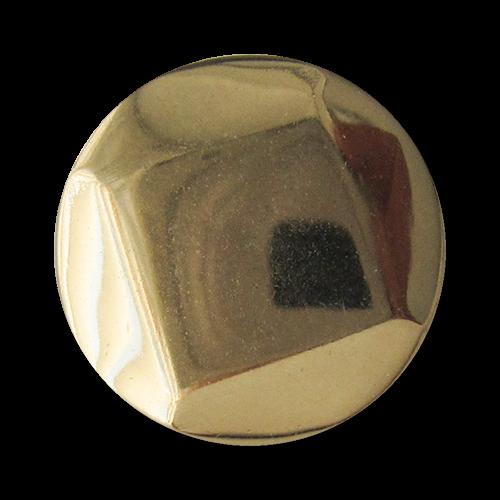 www.Knopfparadies.de - 5186go - Leichte goldene Metallblechknöpfe mit Viereck oder Raute