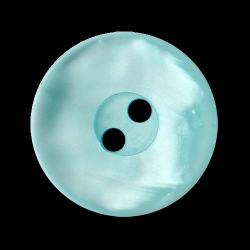 www.knopfparadies.de - 3564bb - Hellblaue Kunststoffknöpfe mit zwei Löchern