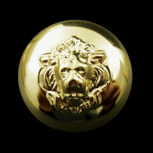 Vornehmer Knopf mit Löwenkopf aus leichtem Metallblech
