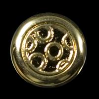 Interessanter, goldfarbener Mantelknopf