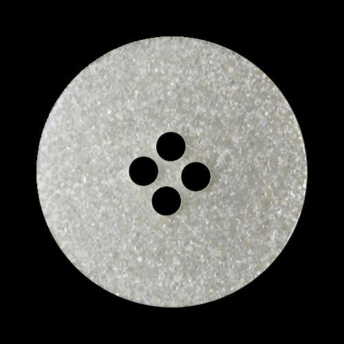 www.Knopfparadies.de - 2133si - Glamouröse silber glitzernde Vierloch Kunststoffknöpfe