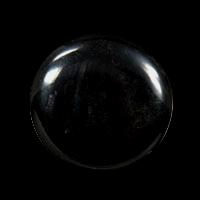 Glänzend schwarzer Kunststoffknopf
