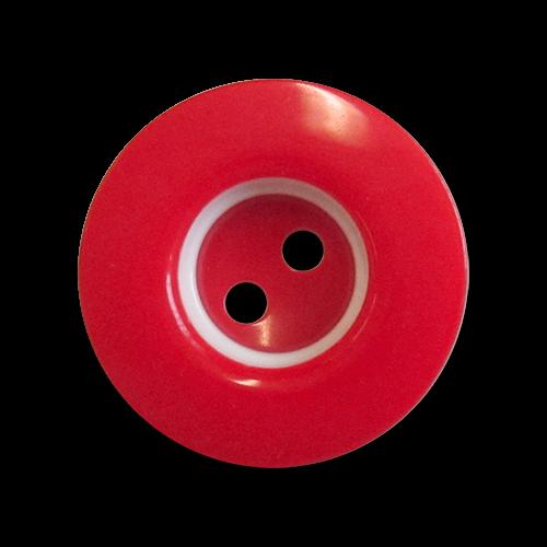 www.knopfparadies.de - 6004ro - Rot-weiße Kunststoffknöpfe