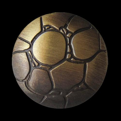 www.Knopfparadies.de - 5257me - Metallknöpfe in Messing mit originellem Muster
