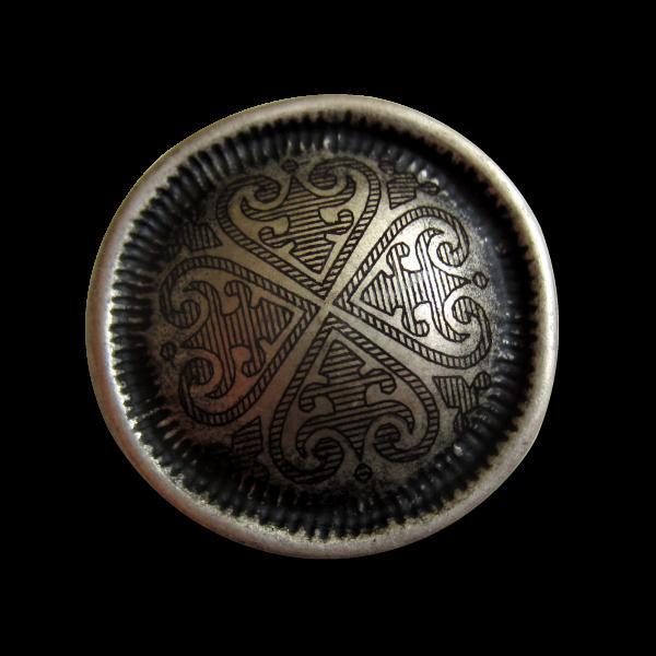 Alt wirkender Metallknopf mit keltischem Muster