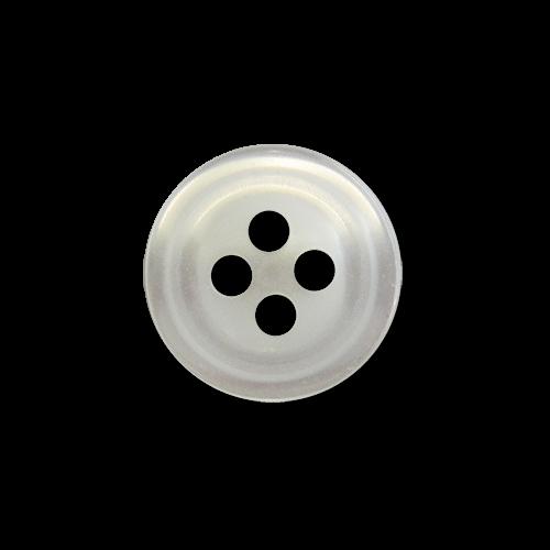 www.Knopfparadies.de - 1622pm - Edle perlmuttweiße Hemdknöpfe / Blusenknöpfe aus Kunststoff
