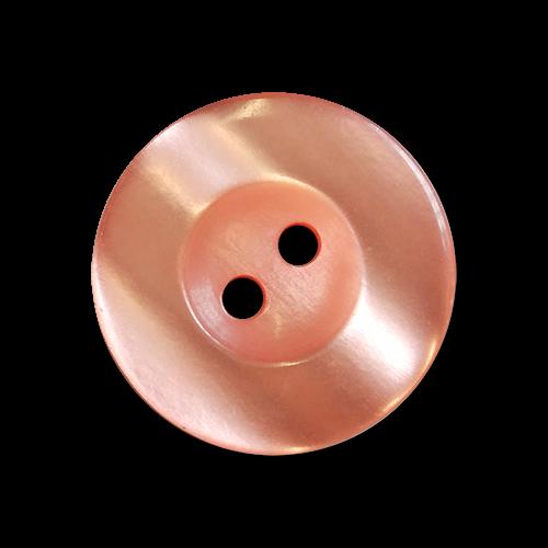 www.knopfparadies.de - 6030la - Lachsfarben schimmernde Kunststoffknöpfe mit zwei Löchern