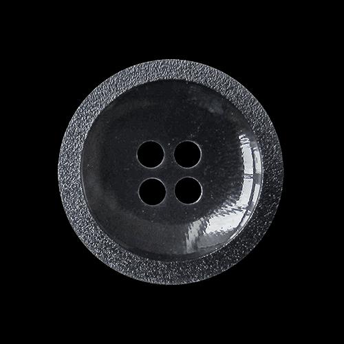 Hübscher dunkelblauer Basic Vierloch Kunststoff Knopf