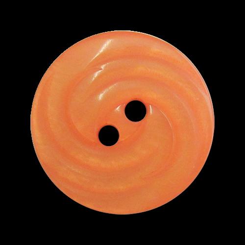 www.Knopfparadies.de - 4424ap - Edle Zweilochknöpfe aus Kunststoff in Apricot mit Perlmuttschimmer
