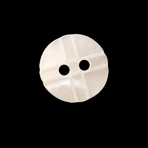 Schöner weißer Blusenknopf