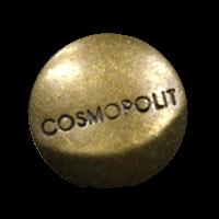 """Altmessingfarbener Metallknopf """"Cosmopolit"""""""