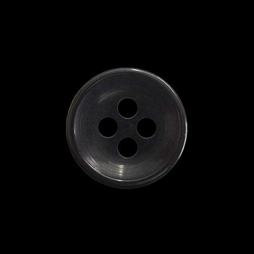 Kleine schwarze Vierloch Blusen- oder Hemdknöpfe aus Kunststoff