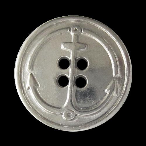 www.knopfparadies.de - 5804sg - Schwere Metallknöpfe mit maritimend Motiv: Anker