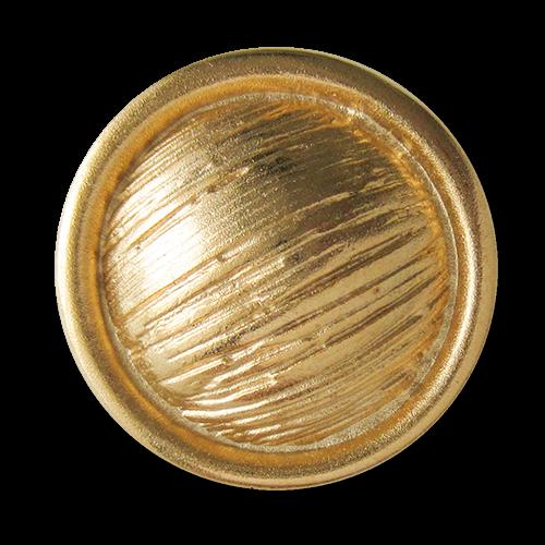 www.Knopfparadies.de - 2527go - Urige goldfarbene Metallknöpfe mit Schraffierung