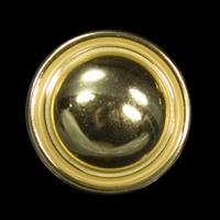 Leichter, bauchiger Goldknopf