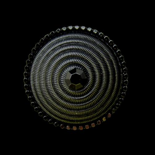 Edler schwarzer Kunststoff Knopf w. aus dem Jugendstil