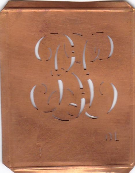 Wäsche-Schablone Sticken Monogramm Stickvorlage BL