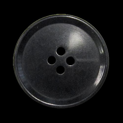 www.Knopfparadies.de - 5760sc - Schlichte schwarze Vierlochknöpfe aus Kunststoff / B-WARE