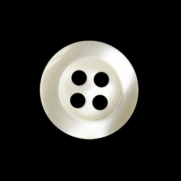 Kleiner perlmuttweißer Vierloch Blusen o. Hemdenknopf
