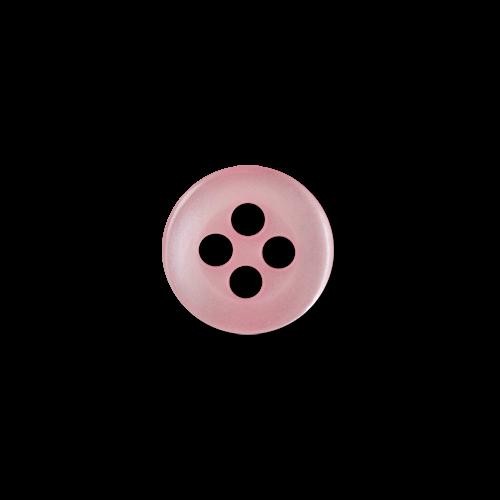www.knopfparadies.de - 1386rs - Rosa schimmernde Blusenknöpfe mit vier Löchern