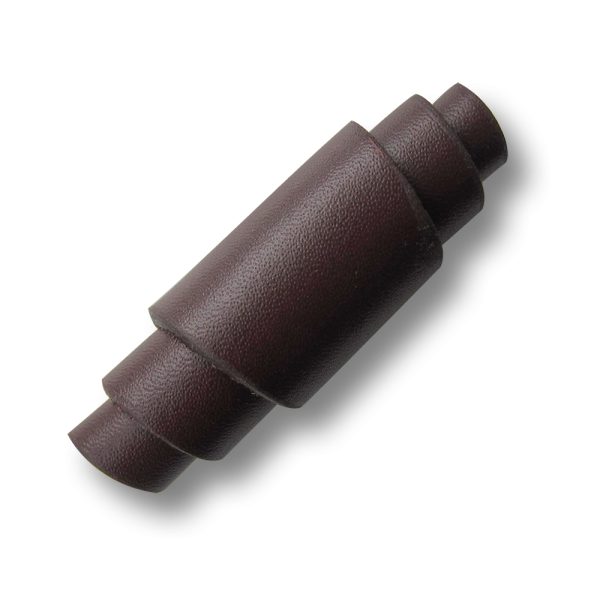 Besonders schöner brauner Leder Knebel Knopf mit Öse