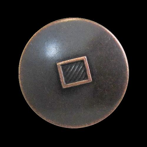 www.knopfparadies.de - 5972ku - Kupferfarbene Blazerknöpfe aus Metall, günstige B-WARE