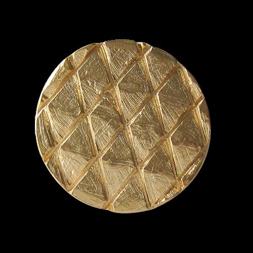 Matt goldfarbene Ösen Metallknöpfe mit Rauten Muster