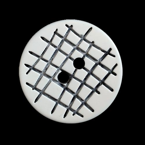www.knopfparadies.de - 1081sw - Interessante Kunststoffknöpfe mit zwei Löchern