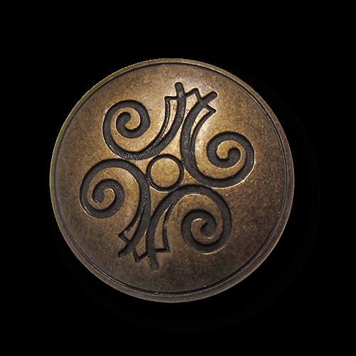 Metallknopf mit volkstümlichem Motiv