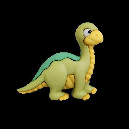 www.knopfparadies.de - 6177br - Kleine zuckersüße Kinderknöpfe: Brontosaurier