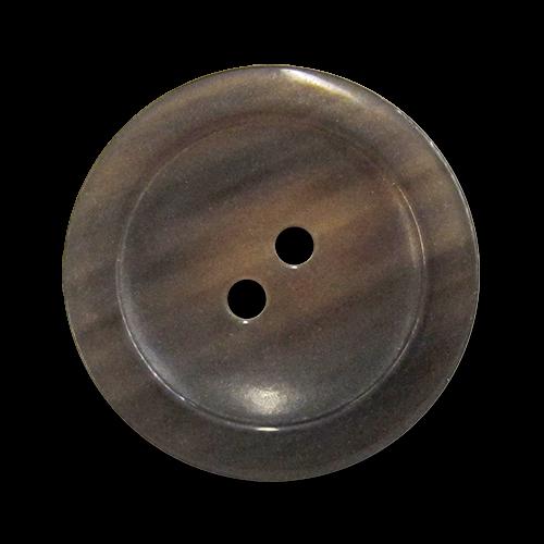 www.knopfparadies.de - 5982jj - Büffelhornknöpfe in dunkelbraun bis olivefarben, leicht transparent