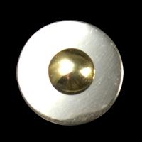 Schöner schlichter zweiteiliger Metallknopf in bicolor