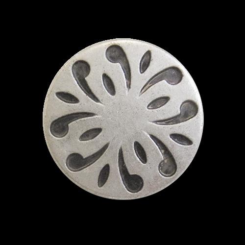Kleiner silberfb. Metallknopf
