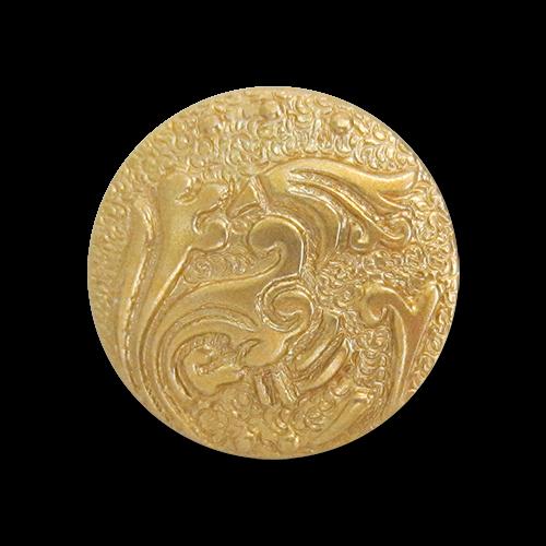 www.Knopfparadies.de - r179go - Kleine Motivknöpfe aus Kunststoff in Gold mit leichten Mängeln