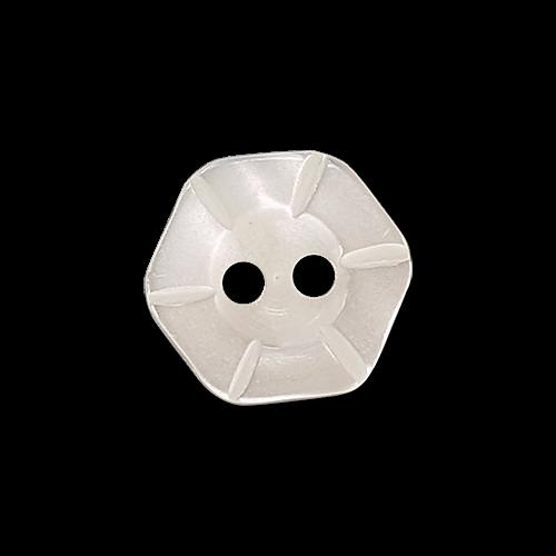 Schöner sechseckiger Blusenknopf