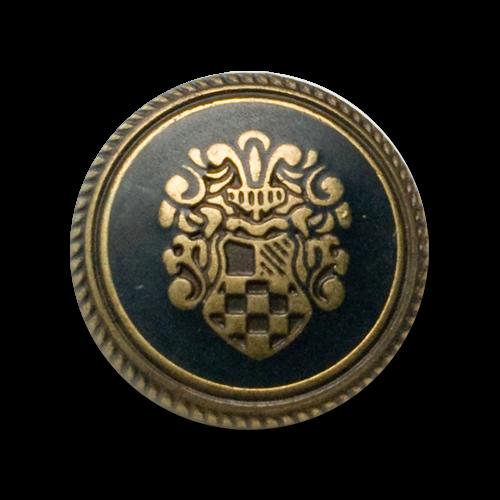 Klassische Blazerknöpfe mit Wappenmotiv