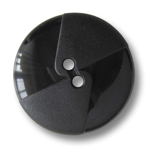 www.Knopfparadies.de - 5136sc - Moderne große schwarze Kunststoffknöpfe mit Dreiecken