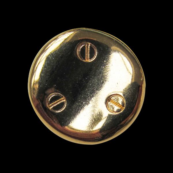 Ausgefallener goldfarbener Metallknopf mit Schrauben
