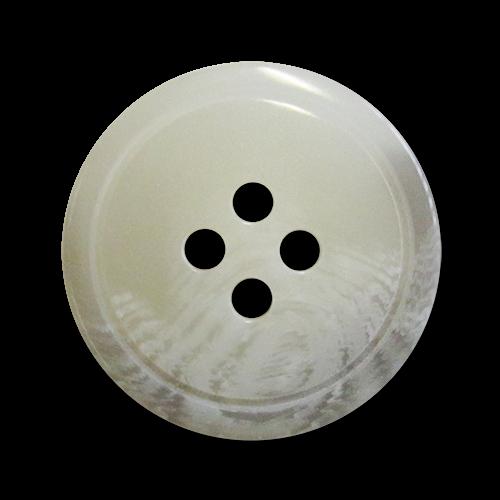 www.Knopfparadies.de - 2121gr - Grau weiße Vierlochknöpfe aus Kunststoff mit einseitiger Melierung